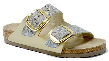 Birkenstock Arizona Big Buckle ceramic plattern blue