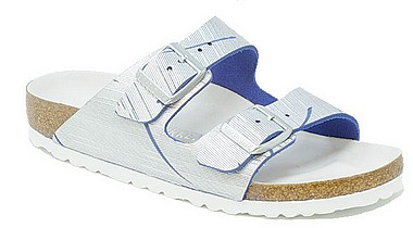 Birkenstock Arizona Rivet Logo metallo cuts oceano