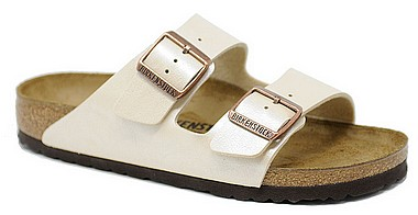 Birkenstock Arizona graceful perle weiss