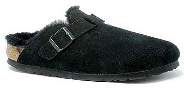 Birkenstock Boston Fur black