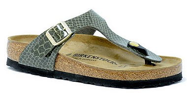 Birkenstock Gizeh magic snake khaki