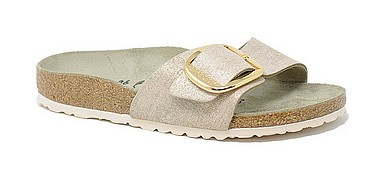 Birkenstock Madrid Big Buckle washed metallic rose gold