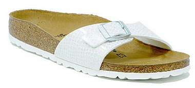 Birkenstock Madrid magic snake bianco