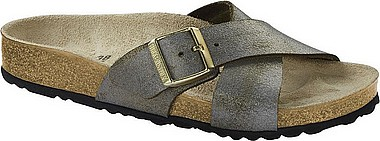 Birkenstock Siena washed metallic stone gold