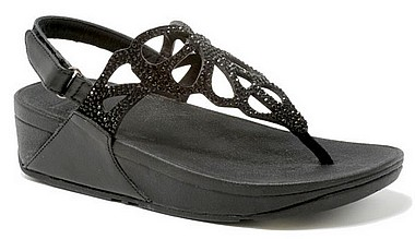 FitFlop™ Bumble Crystal Sandal™ black