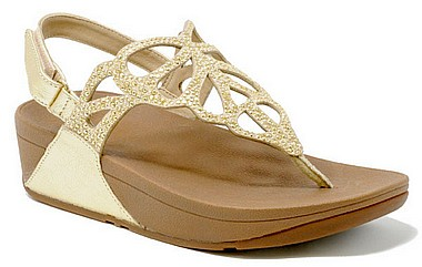 FitFlop™ Bumble Crystal Sandal™ gold