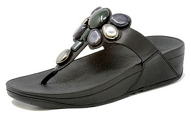FitFlop™ Honeybee Jewelled Toe™ nero