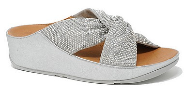 FitFlop™ Twiss Crystal Slide™ silver