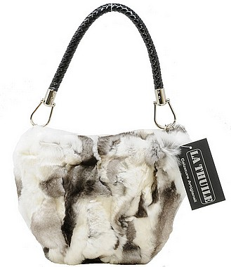 La Thuile Mary Borsa Cincilla white black