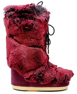 Moon Boot® CL Premium Soft Fur cardinal rosso