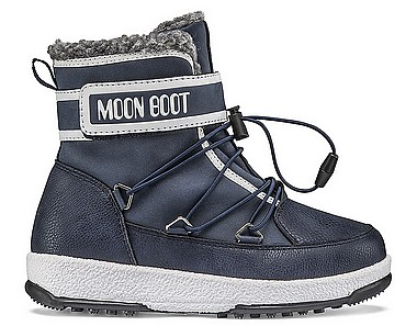 Moon Boot® Moonboot JR Boy Boot WP blue navy white