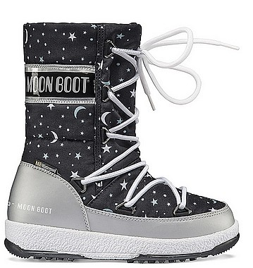Moon Boot® Moonboot JR Girl Quilted universe silver black