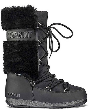 Moon Boot® Moonboot Monaco HI Fur WP black