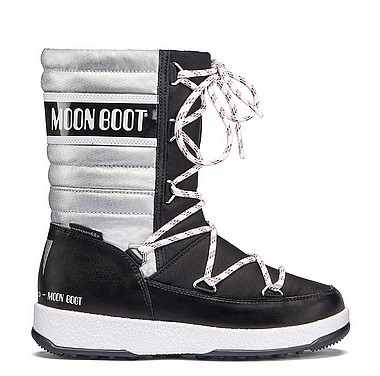 Moon Boot® Moonboot JR Girl Quilted nero argento