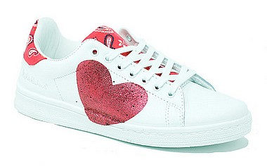 Nira Rubens Daiquiri Sneaker Cuore heart red rock