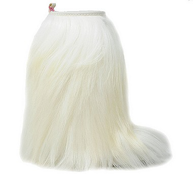 Panchic P01High Boot Long Hair white
