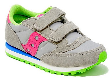 Saucony Jazz Double HL Kids grigio pink lime