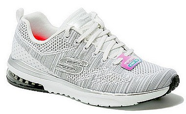 Skechers 12114 Stand Out bianco argento