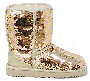 UGG® Classic Short Sequin W sequin gold combo