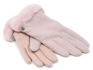 UGG® Fabrik Lthr Shorty Glove rosa