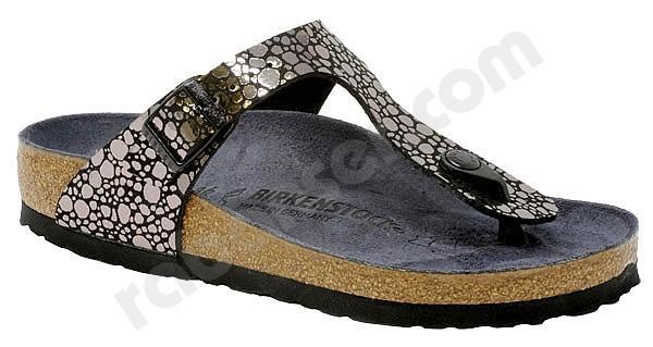 6a681253cf Birkenstock Gizeh metallic stones black