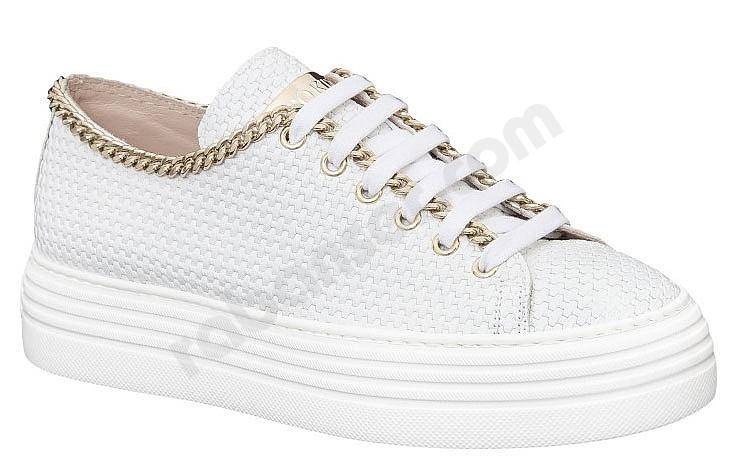 fddb9bb615cbbe Stokton 500 D bianco. Plateau sneakers